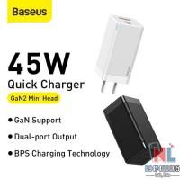 Bộ sạc nhanh Baseus GaN2 Mini Quick Charger 45W (PD/QC3.0/ BPS)