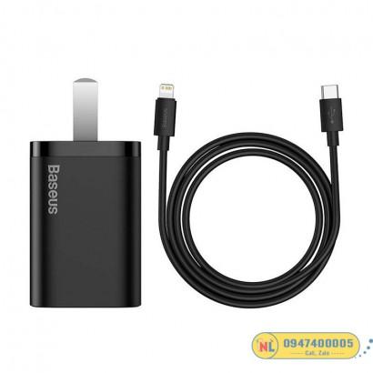 Bộ sạc nhanh Baseus Super Si Quick Charger 20W dùng cho iPhone 12/iP11/XS Max (Type C, 20W/18W, PD/ QC3.0 Quick charger)