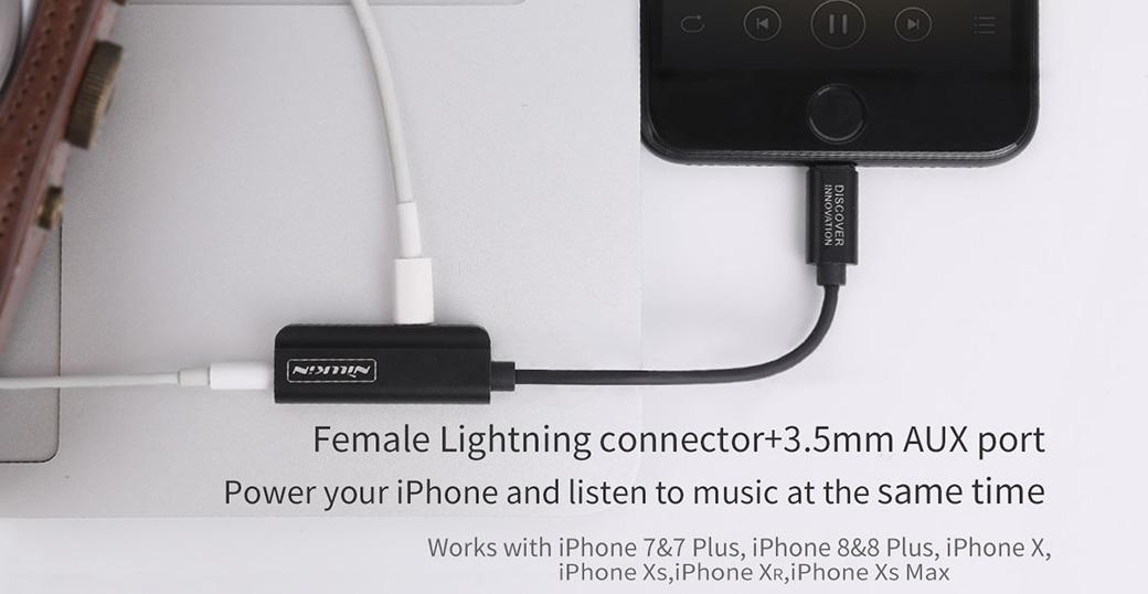 RockPower audio adapter-Lightning to Lightning&3.5mm