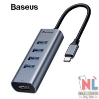 HUB Adapter Macbook 4 USB 1 HDMI hiệu Baseus