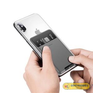 Case đựng thẻ siêu mỏng dùng gắn lưng điện thoại Baseus Back Stick Silicone Card Bag (92 x 60mm)