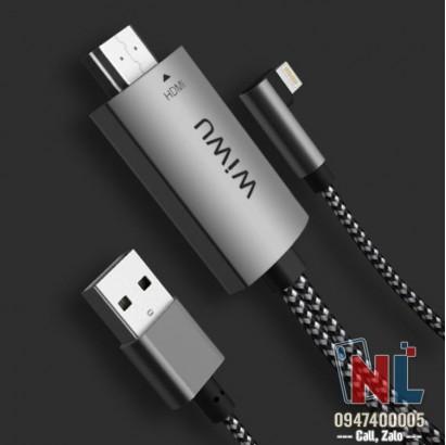 Cáp Lightning HDTV Adapter Wiwu truyền hình ảnh từ iPhone lên TV
