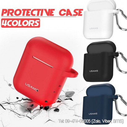 Bao silicon bảo vệ AirPods chính hãng Usams