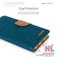 Bao da Galaxy A10 Mercury Canvas Diary chứa thẻ