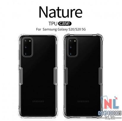 Ốp lưng Galaxy S20 silicon Nillkin chính hãng