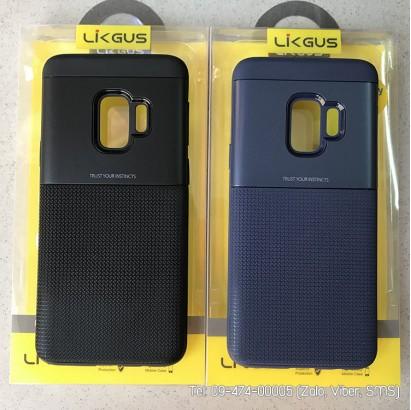 Ốp lưng Galaxy S9 Likgus carbon kim loại