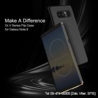 Bao da Galaxy Note 8 Rock Dr.V mặt trong mờ xem bên ngoài