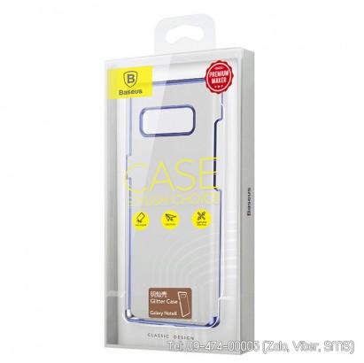 Ốp lưng Galaxy Note 8 Baseus Clear case viền màu