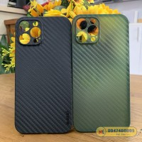 Ốp lưng iPhone 12 Pro Max Memumi 0.3mm vân carbon