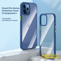 Ốp lưng trong suốt iPhone 12 Pro Max Rock Guard Pro viền màu