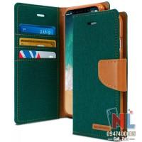 Bao da iPhone X/Xs Max Mercury Canvas Diary ngăn chứa tiền