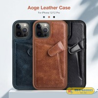 Ốp lưng iPhone 12/ 12 Pro/ 12 Pro Max Nillkin Aoge Leather