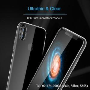 Ốp lưng iPhone X silicon Rock chính hãng