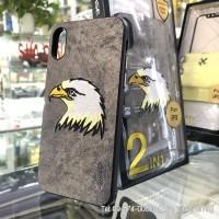 Ốp lưng iPhone X/ XS G-Case da thêu hình chim ưng