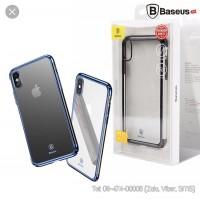 Ốp lưng iPhone Xs Baseus cứng trong viền màu