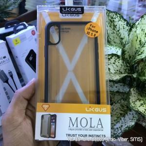 Ốp lưng iPhone X/Xs Likgus Mola lưng trong viền chống sốc