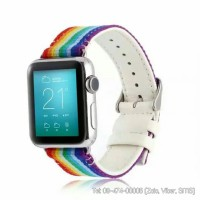 Dây đeo Apple Watch vải Chanel