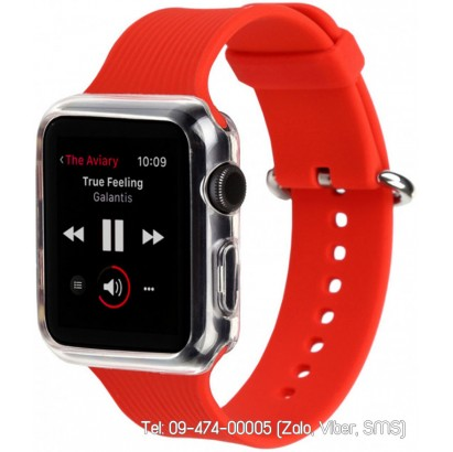 Dây đồng hồ Apple Watch silicon i-Smile kèm ốp