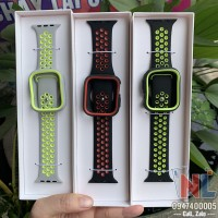 Dây silicon Apple Watch kèm ốp Coteetci size 38, 40, 42, 44mm