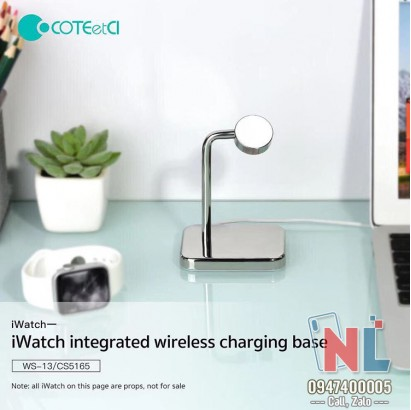 Sạc iWatch COTEetCI WS13 Wireless charging