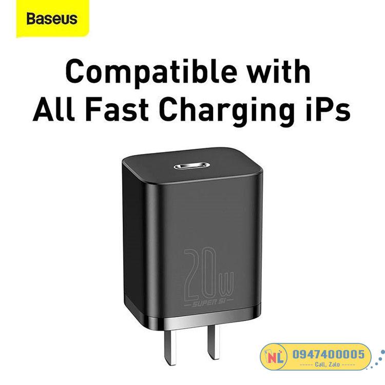 Bộ sạc nhanh Baseus Super Si Quick Charger 20W dùng cho iPhone 12/iP11/XS Max