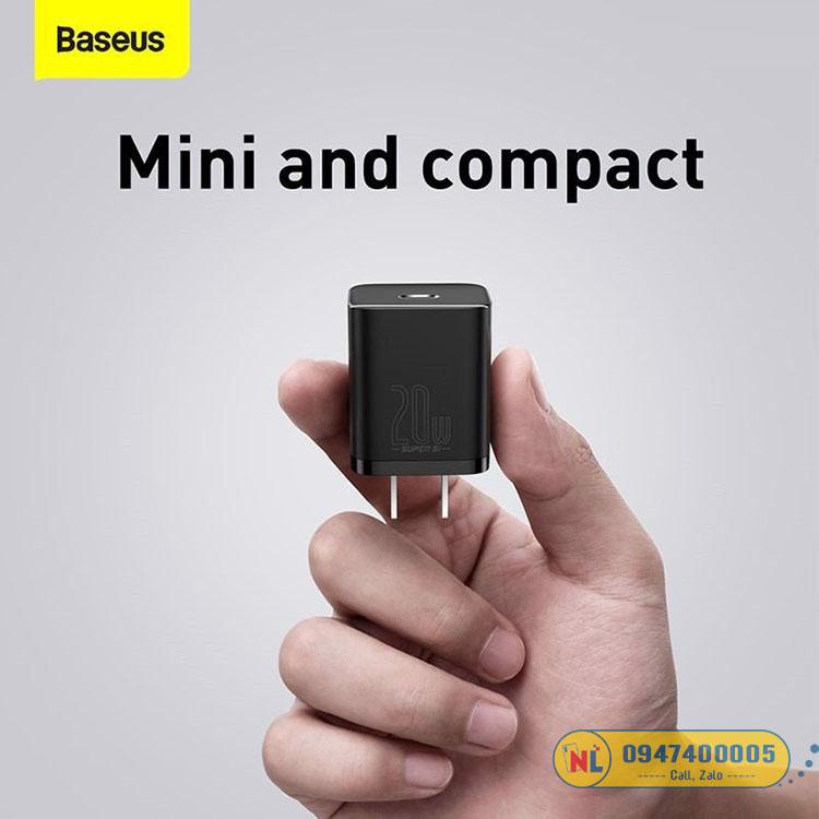 Bộ sạc nhanh Baseus Super Si Quick Charger 20W dùng cho iPhone 12/iP11/XS Max PD)