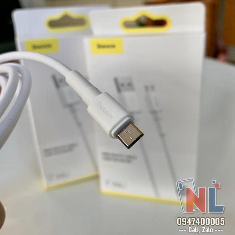 cáp sạc micro 2.4A chính hãng