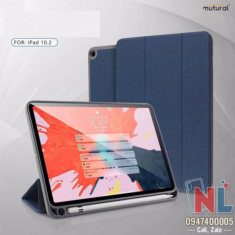 Bao da iPad 10.2 có khay chứa bút chính hãng Mutural