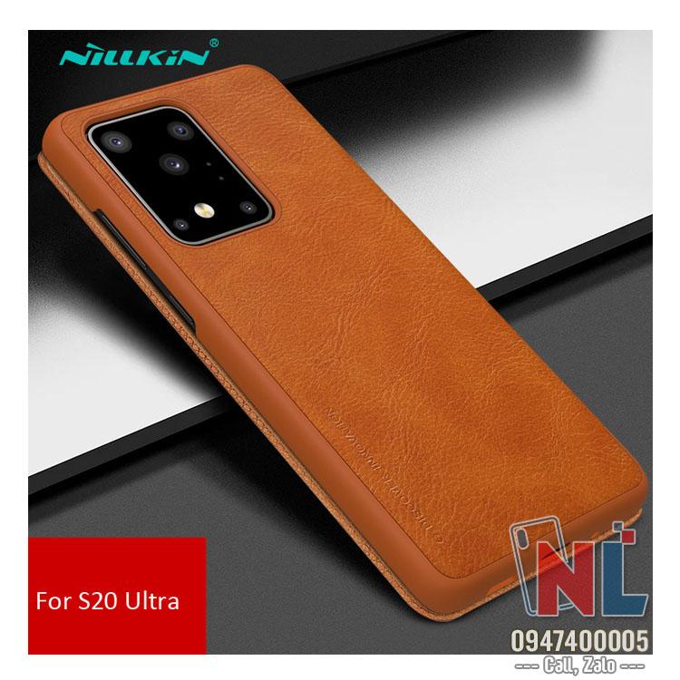 Bao da SamSung Galaxy S20 Ultra Nillkin Qin chính hãng