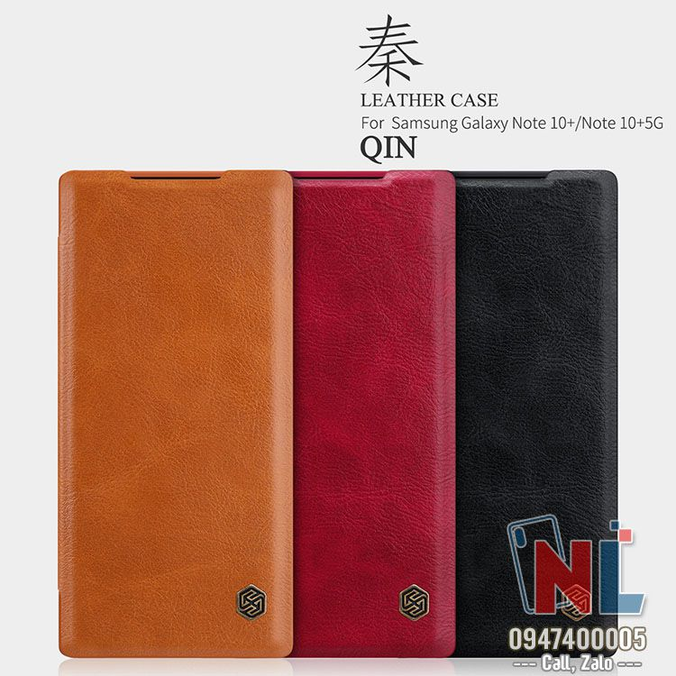 bao da galaxy note 10 plus nillkin qin