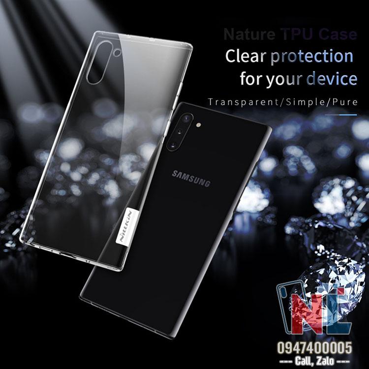 Ốp lưng SamSung Galaxy Note 10 silicon trong suốt Nillkin