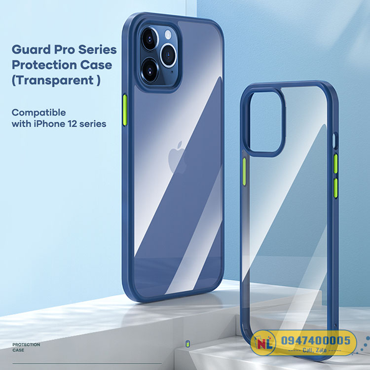 ốp lưng trong suốt iphone 12 pro max rock