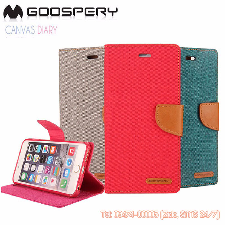 bao da iphone 6 mercury canvas diary