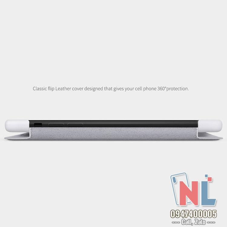 Bao da iPhone 11 6.1 Nillkin Qin chính hãng