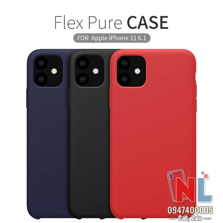 ốp lưng iphone 11 6.1 silicon nillkin flex