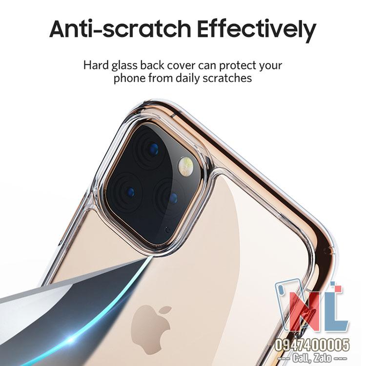 Ốp lưng iPhone 11 pro max Benks lưng kính trong suốt