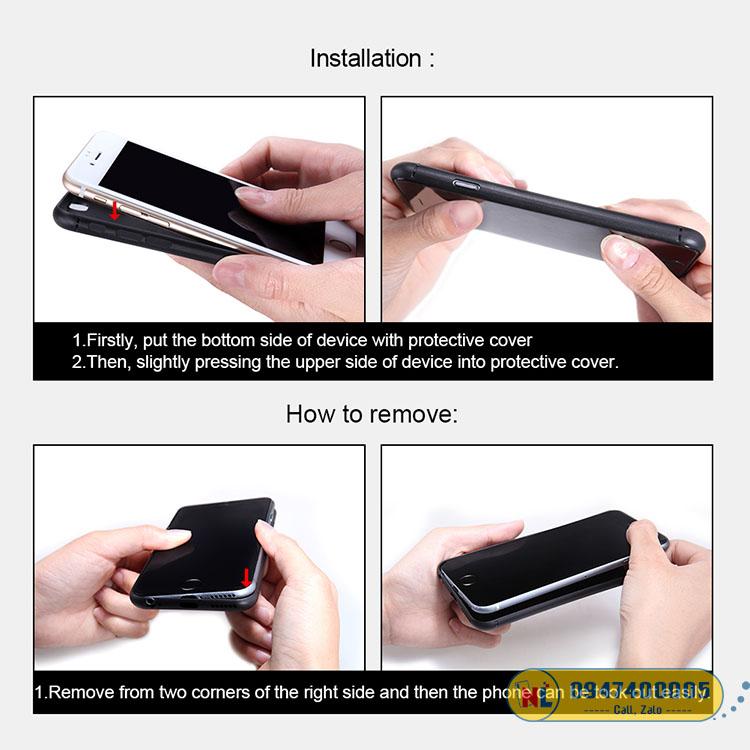ốp lưng iphone 13 nillkin carbon