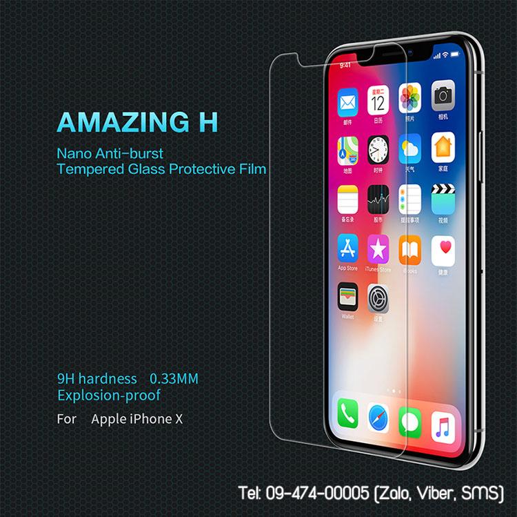 cường lực iphone x nillkin 9h
