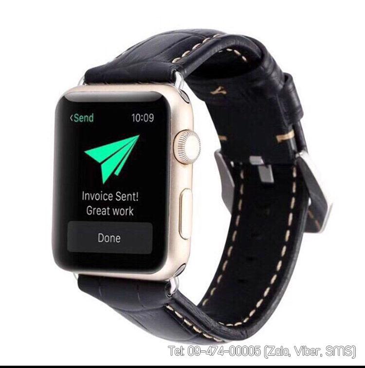 dây apple watch da mềm chỉ may đều
