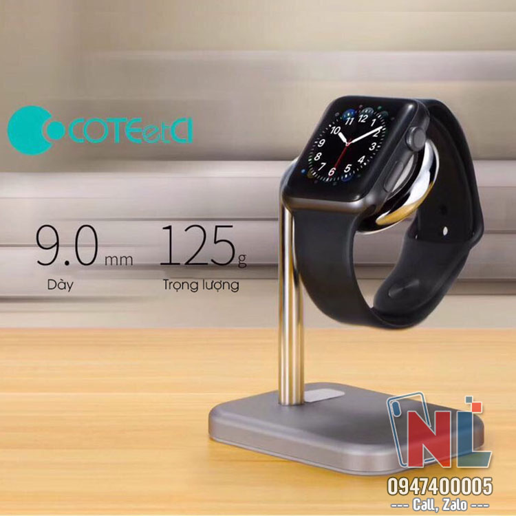 sạc iwatch coteetci wireless charging 0.35A